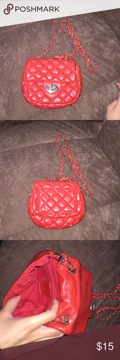 Cute red bag Only worn twice. Chrissy Teigen has touched this bag lol (not free people) Bags