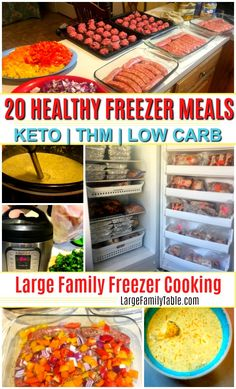 20 Healthy Freezer Meals (Instant Pot Slow Cooker Oven Meals too!) - Large Family Table 20 Healthy Freezer Meals (Instant Pot Slow Cooker Oven Meals too! Slow Cooker Freezer Meals, Make Ahead Freezer Meals, Dump Meals, Freezer Cooking, Freezer Meal Recipes, Cooking Tips, Budget Freezer Meals, Snack Recipes, Budget Recipes