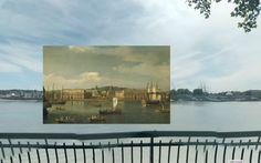 greenwich - Pinturas de Londres del Siglo XVIII pegadas en la vista de Google Street View - http://2ba.by/12nbt