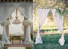 The one on the right. Simple, elegant... Aisle Style – 20 Gorgeous (and DIY-able) Drapes