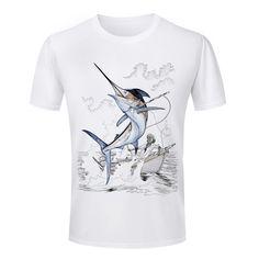 Cheap Hot Selling Men's T Shirts 3d fish Animal Printed
