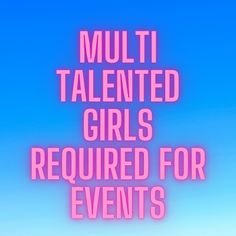 Looking for multi talented girls for multiple works like events, shoot, back dancers and many more. The post Multi talented girls required for events appeared first on Jobs and Auditions. Casting Calls, Part Time Jobs, Dancers, Modeling, It Cast, Events, Girls, Toddler Girls, Modeling Photography