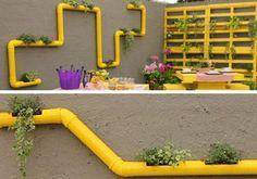 16 objetos que puedes crear con tubos de PVC - - - Pvc Projects, Garden Projects, Vertical Farming, House Plants Decor, Office Plants, Interior Garden, Hydroponics, Architecture Details, Organic Gardening