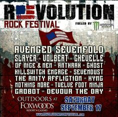 New festival alert! Revolution Rock Festival at Foxwoods resort in Connecticut!