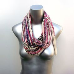 Infinity Scarves Scarf Circle Loop Purple Necklace by necklush, $74.00