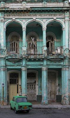 Looks like old Havana... But I bet it's somewhere in Eastern Europe