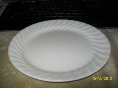 ... Chip Resistant) Dinner Plates (Not Stoneware) that are approximately 10 Diameter each in the  Enhancements - White Swirl  pattern by  Corning/ Corelle . & Corelle Livingware 6-Piece Dinner Plate Set Winter Frost White ...