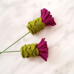 Create a pretty felt thistle!