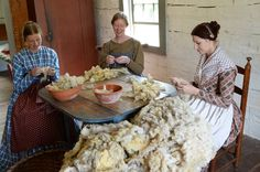 Preparing the wool for spinning was an important task in the 19th centruy Visit the Genesee Country Village to understand how people lived in teh 19th century Ruby Foote photo