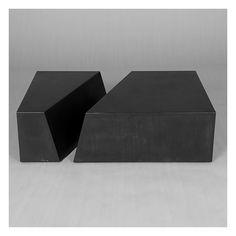 "Tables / Desks :: Coffee Tables :: ""Biais"" Steel Centre Table"