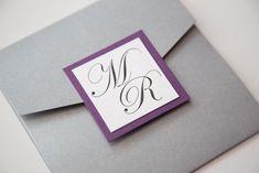 Purple and Grey Monogram Wedding Invitations - Vintage Wedding Stationery Scotland - VOWS Award Nominee 2013 Purple Wedding Stationery, Monogram Wedding Invitations, Wedding Logos, Vintage Wedding Invitations, Wedding Fun, Wedding Ideas, Gray Weddings, Vows, Unique Jewelry