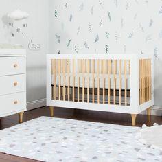 Wallpaper for kid's bedroom Moissanite An Amazing Gift from the Stars! As sparkling as a White Crib Bedding, Baby Crib Sheets, Wood Nursery, Nursery Neutral, Nursery Ideas, Ikea Sniglar Crib, Ikea Crib, Wooden Cribs, Modern Crib