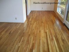 refinished white oak floor.