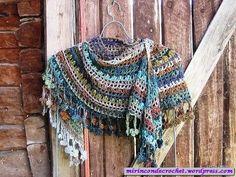 Crochet shawl - free pattern ༺✿ƬⱤღ✿༻