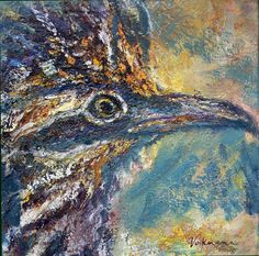 by Judy Volkmann Painting: Oil and oil stick on canvas Size: 12 x 12 x in Artist signed on front/backside of canvas, Ready to hang Road Runner, Oil Paintings, Canvas Size, Fine Art, Artist, Artists, Oil On Canvas, Visual Arts, Amen