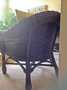 easy and cheap wicker chair update