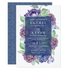 Plum Garden Wedding Invitation Custom #babyshower invitations - Make your special day with these personalized #baby #shower #invitations change the colors font and images and make them your own. #weddinginvitation