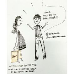 Ilustrações de maternidade por Patricia Azevedo