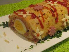 (63) roulé de pommes de terre au thon et oeufs  رولي البطاطس بالطون و البيض راقية شهيوات هندوشة - YouTube