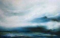 """Maelstrom"" by Daniel Rigos. Abstract Surreal Landscape Oil Painting for Sale on Bluethumb - Online Art Gallery, Australia. 92cm (W) x 61cm (H) - SOLD - Finalist in the Corangamarah Art Prize, Otway Estate Winery, Colac, 2011."
