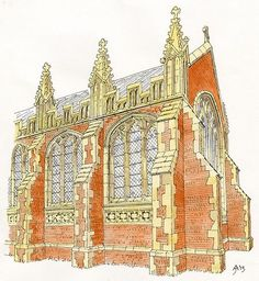 Artist's reconstruction of the east end of the Grey Friars Church. Credit: Jill Atherton