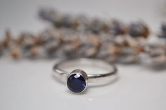 Sapphire sterling silver solitaire ring £38.00
