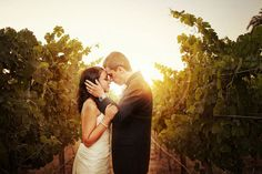 A gorgeous, sun-kissed wedding photo from Heather Elizabeth Photography
