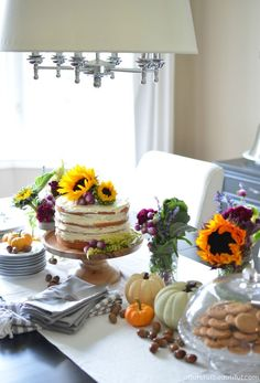 A Burst of Beautiful: A Bright and Cheerful Fall Tablescape