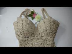 Fabulous Crochet a Little Black Crochet Dress Ideas. Georgeous Crochet a Little Black Crochet Dress Ideas. Diy Crochet Bikini, Crochet Monokini, Crochet Bra, Crochet Halter Tops, Quick Crochet, Crochet Shirt, Diy Crochet Flowers, Crochet Bodycon Dresses, Crochet Bathing Suits