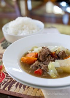 Filipino Beef Nilaga. I made my family's variation of this last night. This is truly one of my favorite comfort foods.