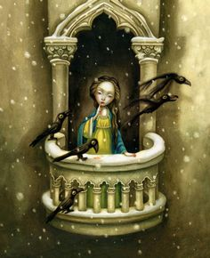 Illustration by Benjamin Lacombe for Snow White