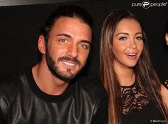 Nabilla Benattia et son compagnon Thomas Vergara font la fête au Nice Club de Dour en Belgique, le 8 novembre 2013.
