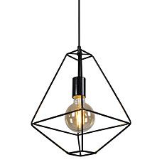 Minimalistic pendant light 'Frame A' Modern black/metal - Suitable for LED / Indoor - 90557 Pendant Lamp, Pendant Lighting, Black Metal, Indoor, Ceiling Lights, Frame, Modern, Kitchen Dining, Home Decor