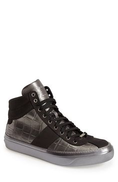 Jimmy Choo 'Belgravia' Metallic High-Top Sneaker (Men) available at #Nordstrom