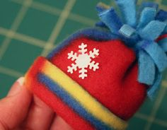 Mini Fleece Hat Ornament #2