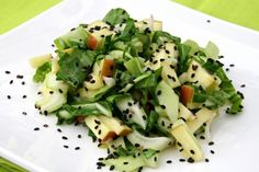 Lemony Baby Bok Choy, Apple and Miso Salad