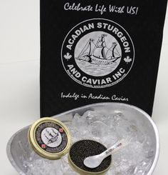 Gift bag and caviar server! Celebrate Life with Us!