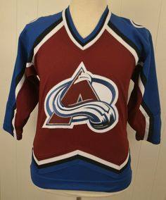 07126d090d6 Details about Kids Colorado Avalanche KOHO NHL Stitched Hockey Jersey Kids  Youth Size XL