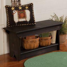 Knotty Pine Shelf Bench   Sturbridge Yankee Workshop