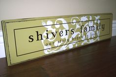 Personalized Established Family Name Sign