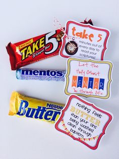 Quick and Easy Baptism Gift! Baptism Prinatables for Candy INSTANT DOWNLOAD LDS by MarciCoombs