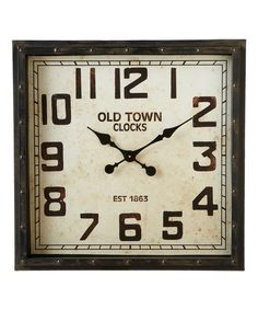 Loving this Black Distressed Square Wall Clock on #zulily! #zulilyfinds