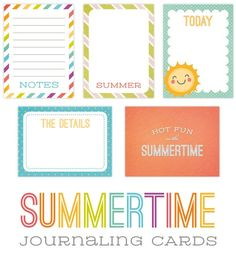 simple brighton: { project life - more summer freebies and printables }