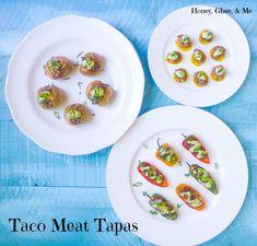Taco Meat Tapas {w/Cilantro-Avo Crema} | Honey Ghee and Me