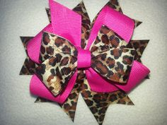 Leopard with Pink Hair Bow