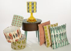 Love the new collection of screen-printed lampshades and cushions by Berty Basics, inspired by mid-century prints. Made and designed in Scotland and printed on Scottish woven linen.