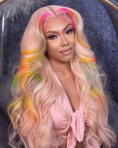 Baddie Hairstyles, Black Girls Hairstyles, Straight Hairstyles, Frontal Hairstyles, Lace Front Wigs, Lace Wigs, Curly Hair Styles, Natural Hair Styles, Colored Wigs