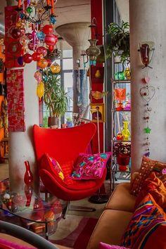 Bohemian Living Room With Colorful Decor And Red Modern Wingback Bohemian Chic Decor Ideas Remarkable Bohemian Decor Interior Bohemian Gypsy Room Decor. Bohemian Home Decor Uk. Bohemian Wall Decor, Bohemian Living Rooms, Bohemian Interior, Living Room Decor, Bohemian Style, Boho Chic, Shabby Chic, Bohemian Decorating, Bohemian Apartment
