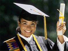 Photo about African American woman graduate wearing cap and gown holding up diploma. Image of energy, american, college - 4643262 Scholarships For College Students, Grants For College, Financial Aid For College, Online College, Student Loans, Easy Scholarships, School Scholarship, College Success, College Tips