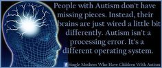 Autism isn't a processing error, its a different operating system!
